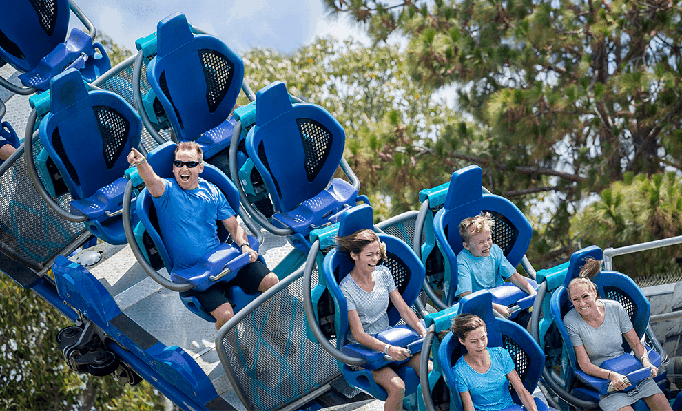 Family Enjoying Rollercoaster 1