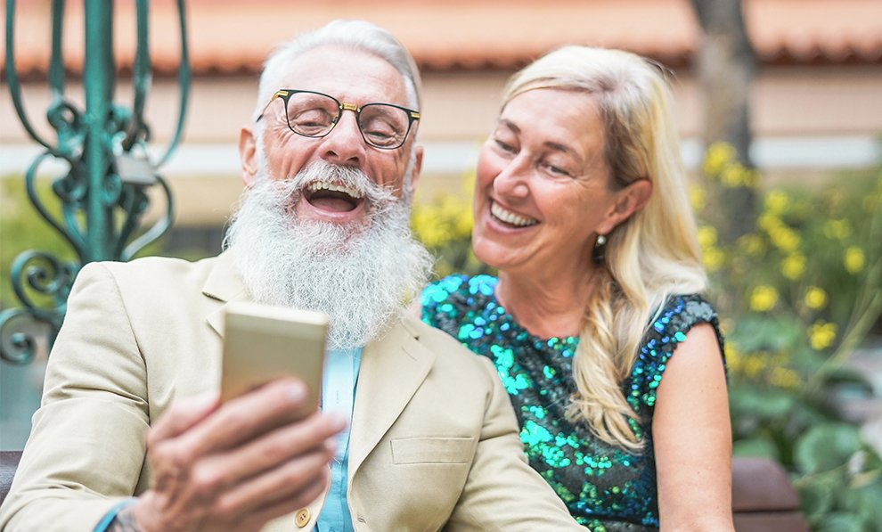 Increasing Online Donations Couple Laughing