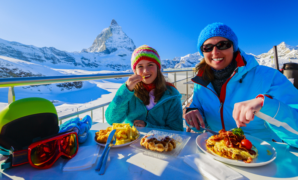 Bonus Cash Enjoying Ski Meal